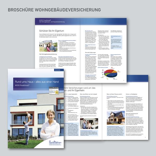 Broschüren INTER Allgemeine Versicherung, Wohngebäudeversicherung