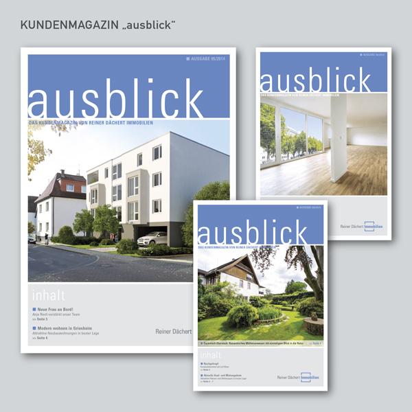 "Kundenmagazin ""ausblick"""