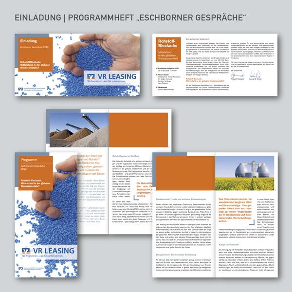 VR Leasing Einladung und Programmheft Eschborner Gespräche