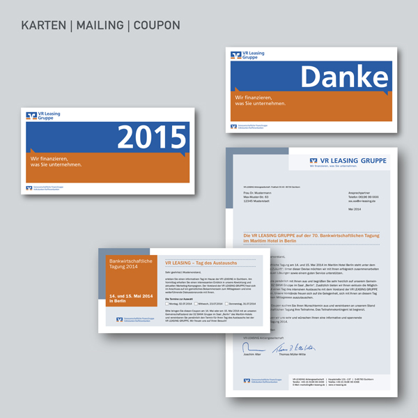 VR Leasing Karten, Mailings, Coupons