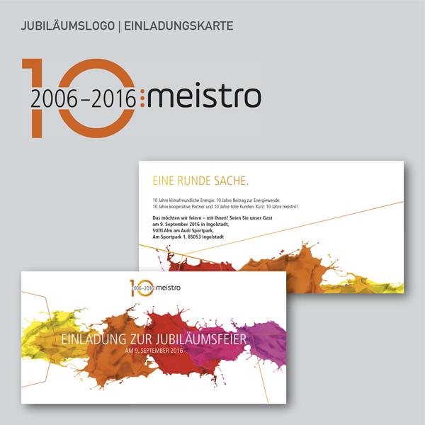 Jubiläumslogo, Einladungskarte
