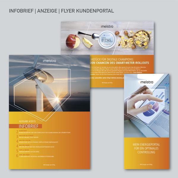 Flyer Kundenportal, Anzeige, Infobrief Newsletter