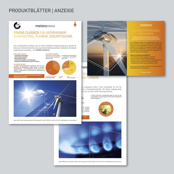 Produktblätter Strom, Produktblätter Erdgas, Anzeige