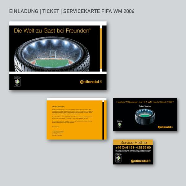 Einladung, Ticket, Servicekarte FIFA WM 2006
