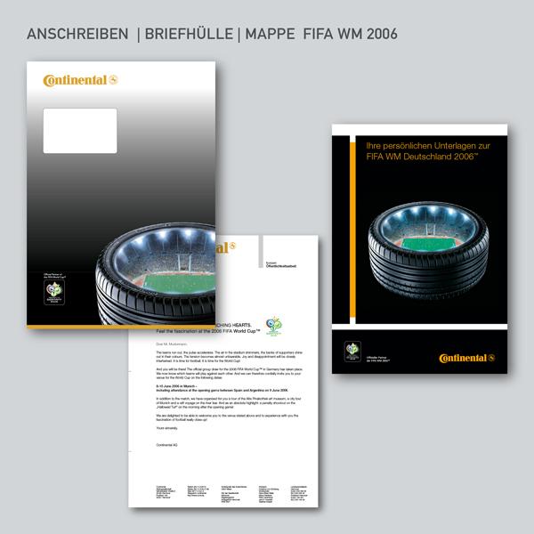 Continental Anschreiben Briefhülle Mappe FIFA WM 2006