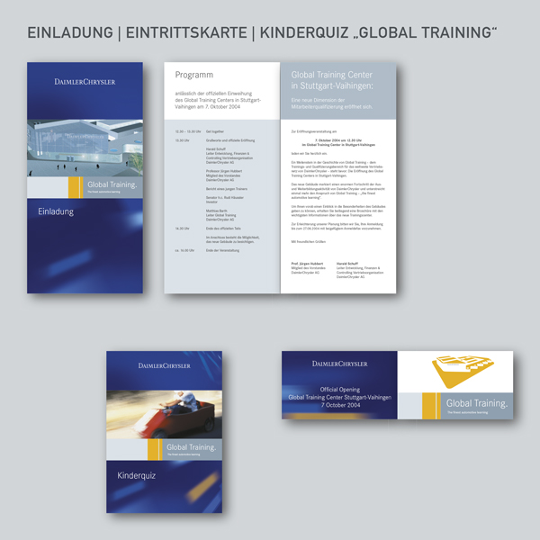 Einladung, Eintrittskarte, Kinderquiz Global Training