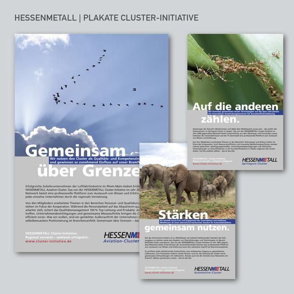 Hessenmetall Clusterinitiative, Plakate
