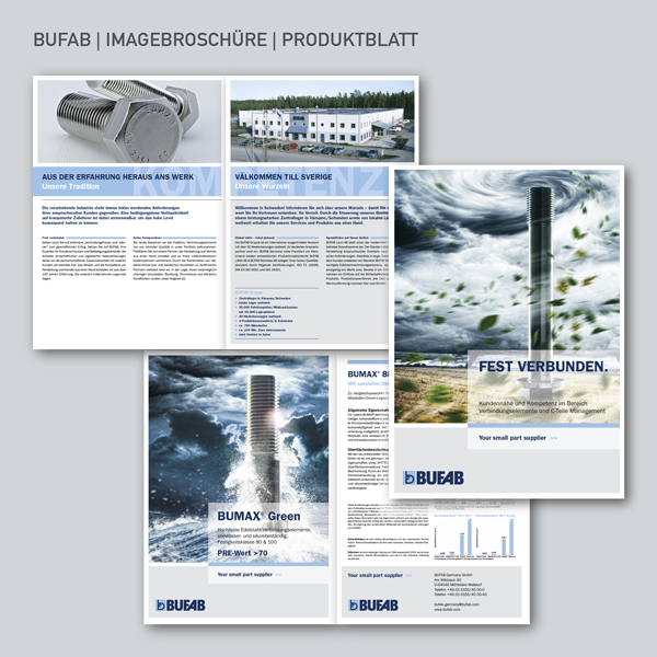 BUFAB Imagebroschüre, Produktblatt BUMAX