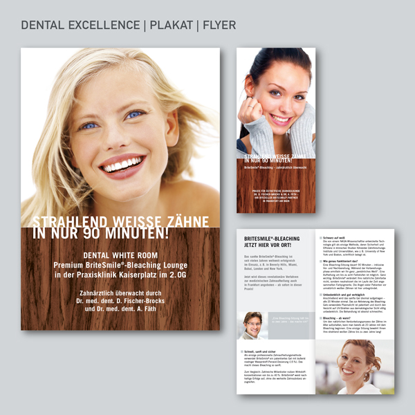 Dental Excellence, Plakat, Flyer