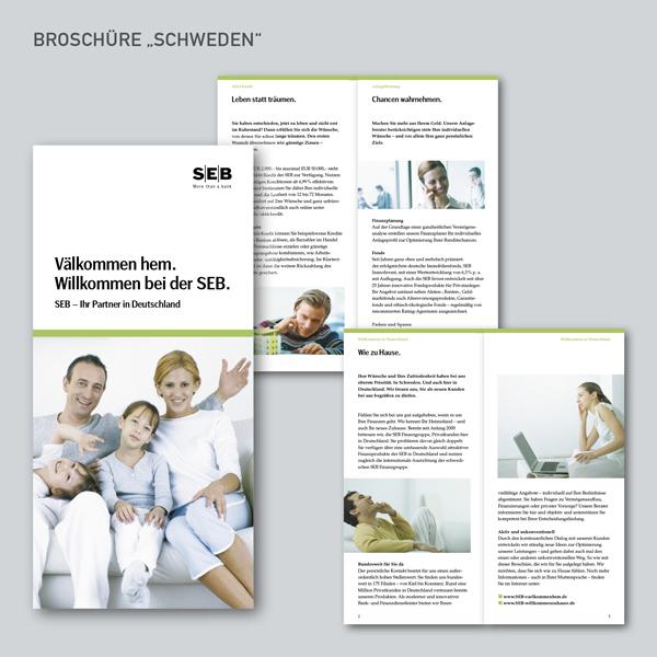 """SEB Broschüre """"Schweden"""""""