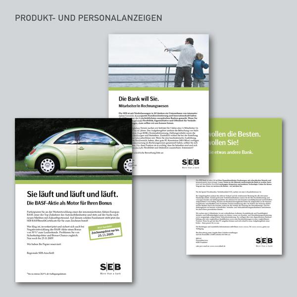 Produkt- und Personalanzeigen