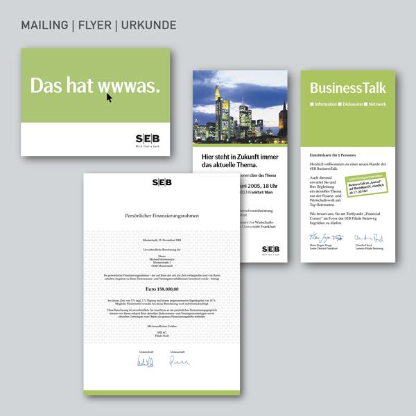 Mailing, Flyer, Urkunde