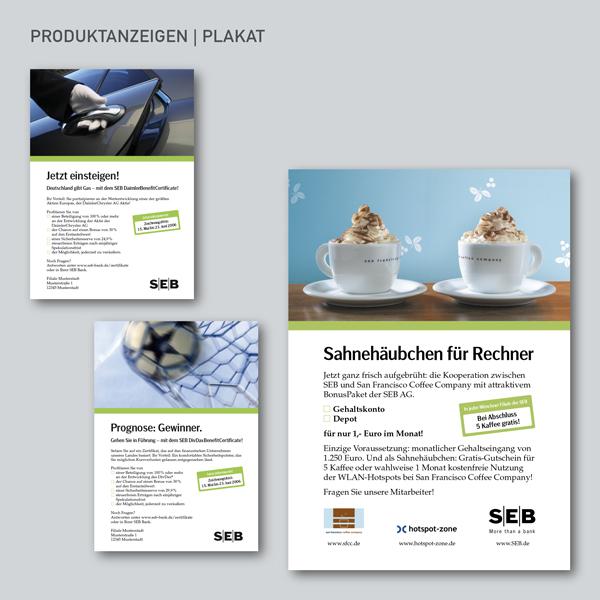 Produktanzeigen, Plakat