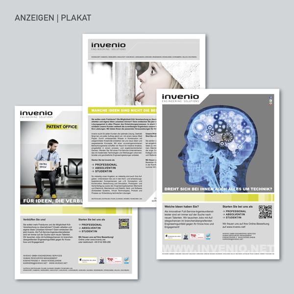 invenio Anzeigen, Plakat
