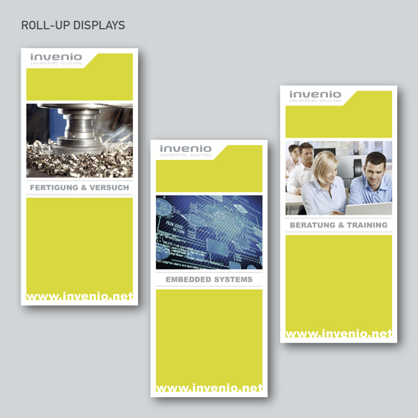 invenio Roll-Up Displays